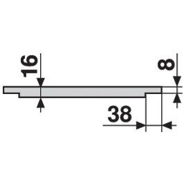 """Blum 753.4501B LEGRABOX 18"""" Cabinet Profile, BLUMOTION, Zinc, Heavy Duty 155lb :: Image 200"""