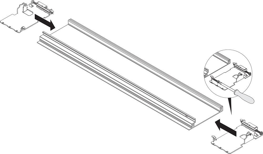 "Blum ZI7.0MS0 LEGRABOX M Height (3-9/16"") Interior Front Fixing Bracket, Orion Gray :: Image 30"