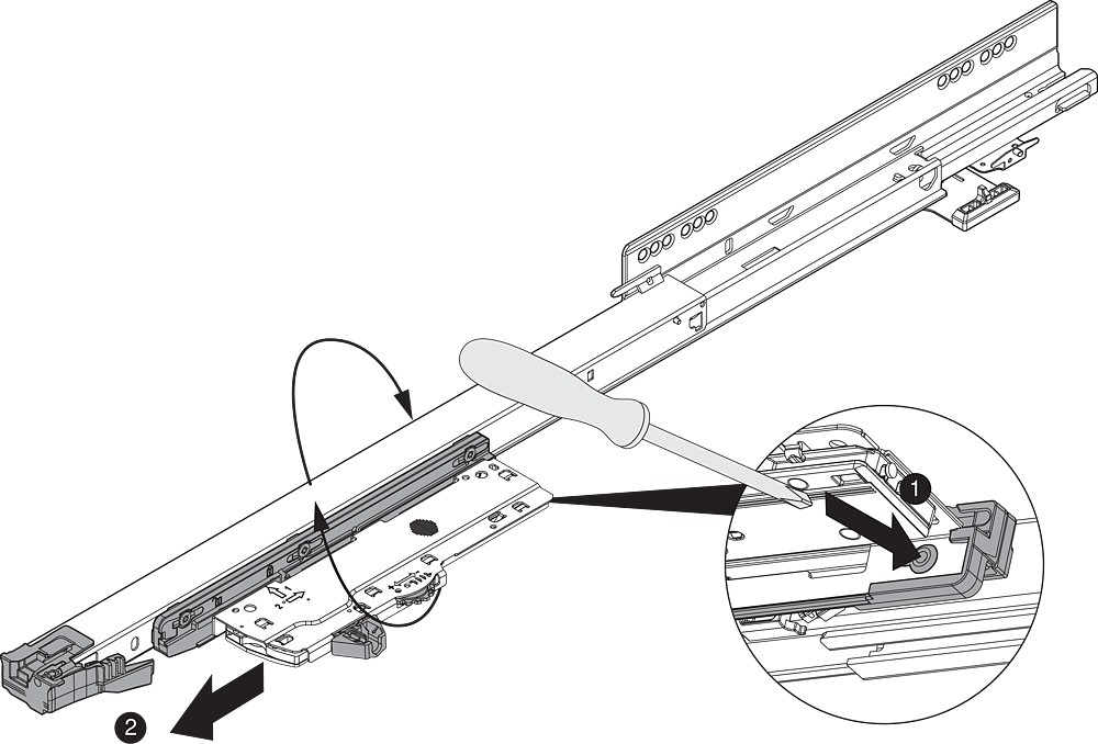Blum T60L7570 MOVENTO Heavy Duty L5 TIP-ON BLUMOTION Unit, Black :: Image 160