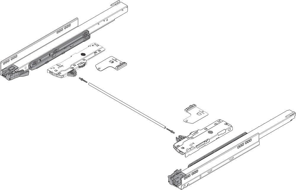 "Blum 753.6001M LEGRABOX 24"" Cabinet Profile, TIP-ON BLUMOTION, Heavy Duty 155lb :: Image 20"