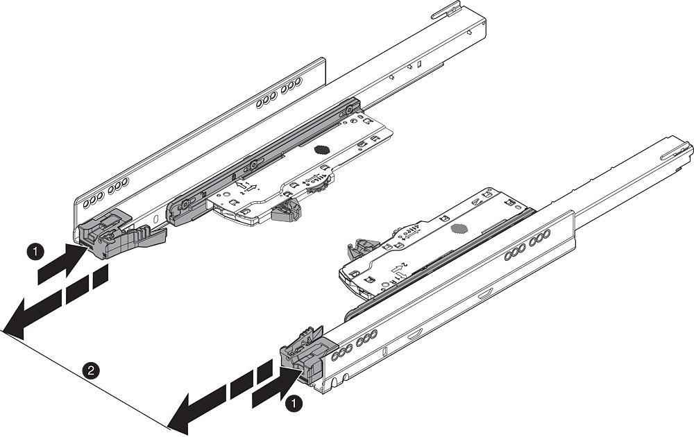 Blum T60L7570 MOVENTO Heavy Duty L5 TIP-ON BLUMOTION Unit, Black :: Image 70