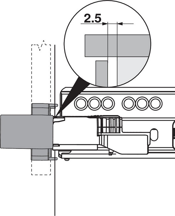 Blum T60L7570 MOVENTO Heavy Duty L5 TIP-ON BLUMOTION Unit, Black :: Image 120