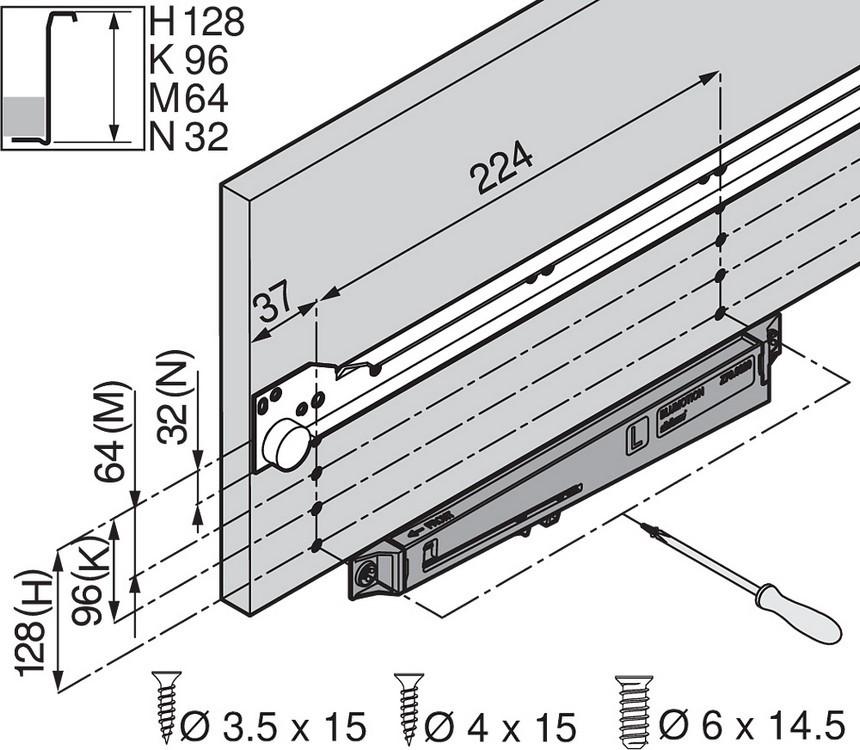 Blum Z70.0320 BLUMOTION for METABOX :: Image 100