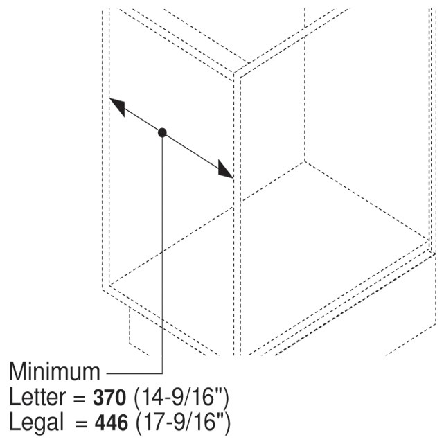 Blum ZRM.5500.US METAFILE Standard Kit, White :: Image 10