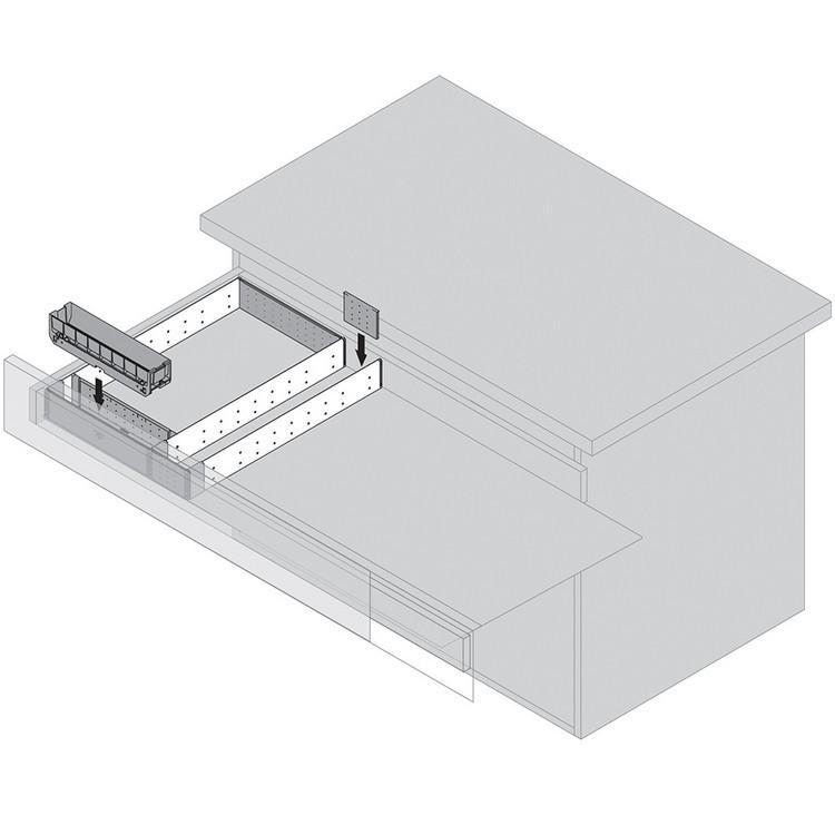 "Blum 562H5330C 21"" TANDEM 562H Undermount Full Extension Drawer Slide for 5/8 Drawer :: Image 110"