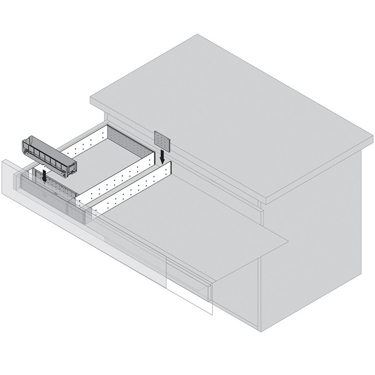 "Blum 562H5330C 21"" TANDEM 562H Undermount Full Extension Drawer Slide for 5/8 Drawer :: Image 250"