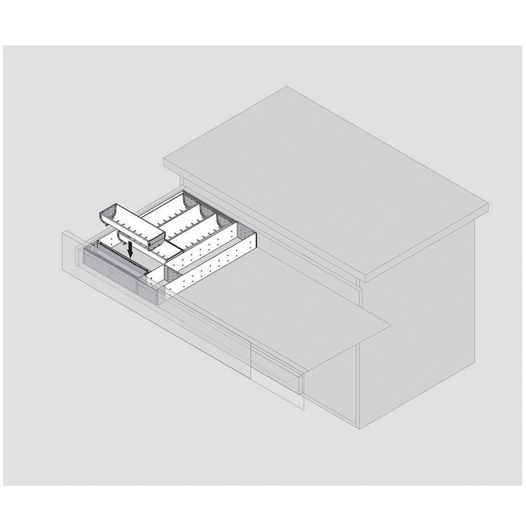 "Blum 562H5330C 21"" TANDEM 562H Undermount Full Extension Drawer Slide for 5/8 Drawer :: Image 260"