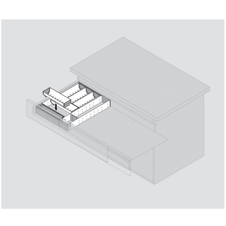 "Blum 552H5330N 21"" TANDEM 552H Undermount Partial Extension Drawer Slide for 5/8 Drawer :: Image 60"