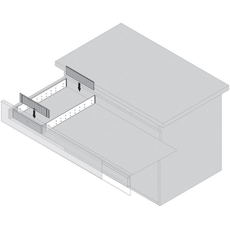 "Blum 562H5330C 21"" TANDEM 562H Undermount Full Extension Drawer Slide for 5/8 Drawer :: Image 240"