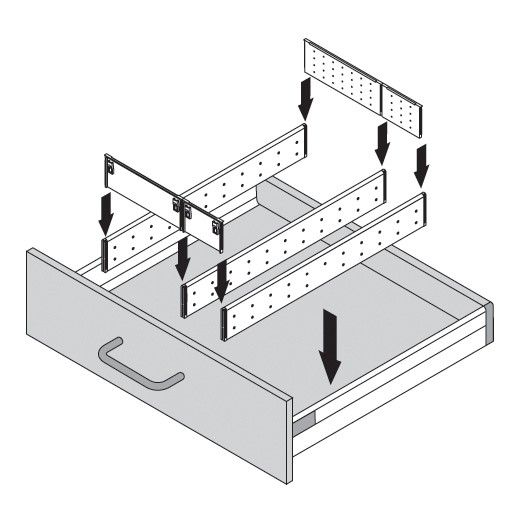 Blum ZSI.500MI3 20in 3-Tiered Cutlery/Utensil Organizer, Inox :: Image 70