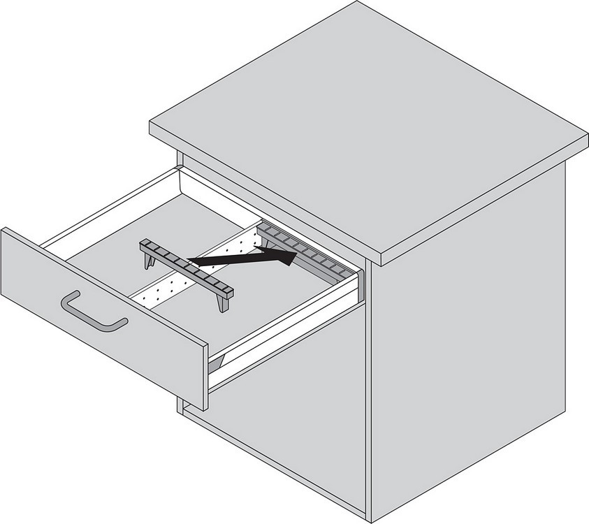 Blum ZSI.550KI4A 22in 4-Tiered Cutlery/Utensil Organizer, Inox :: Image 100