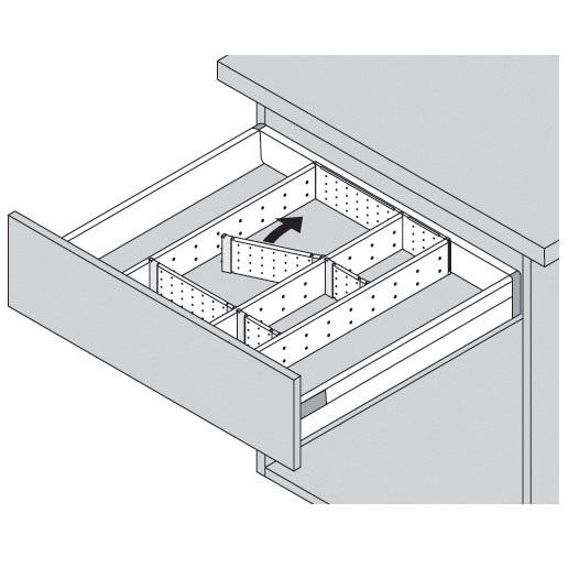 Blum ZSI.500FI1 20in Single Tiered Utensil Organizer, Inox :: Image 40