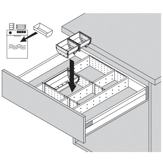 Blum ZSI.550FI1 22in Single Tiered Utensil Organizer, Inox :: Image 120
