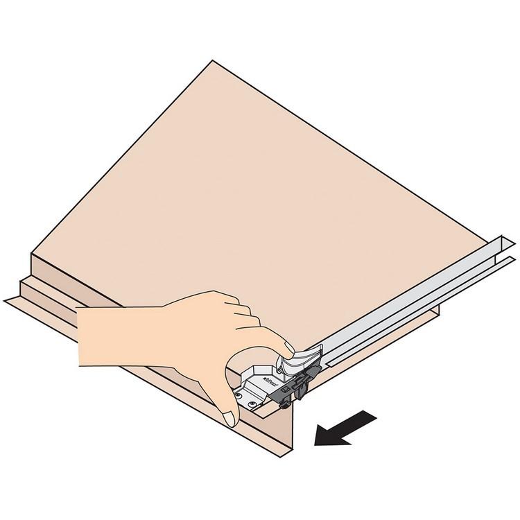 Blum T51.0801.20 L Tandem 563/569 Narrow Locking Device, Left :: Image 40