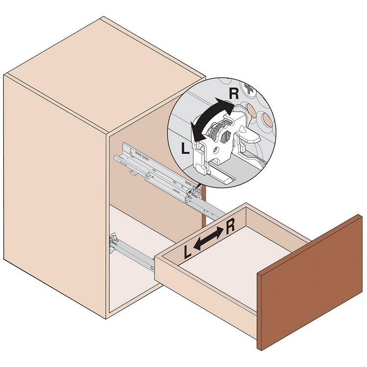 Blum T51.1901 L Tandem 563/569 Side Adjustable Front Locking Device, Left :: Image 160