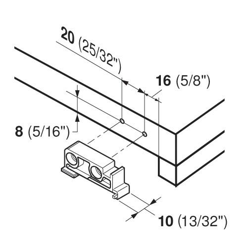Blum T51.7000.01 Tandem Rear Mounting Block :: Image 80