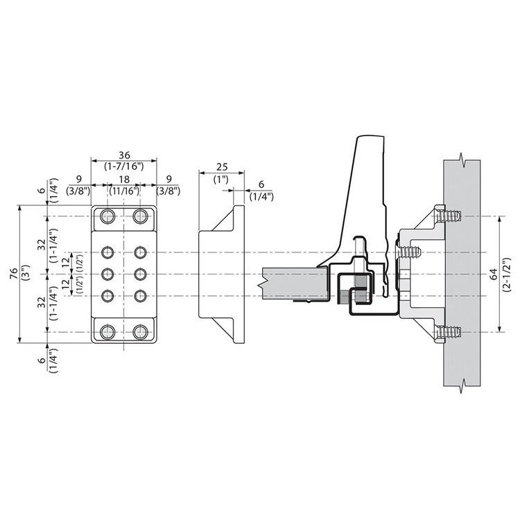 Blum T59.3570 Tandem Side Spacer :: Image 40