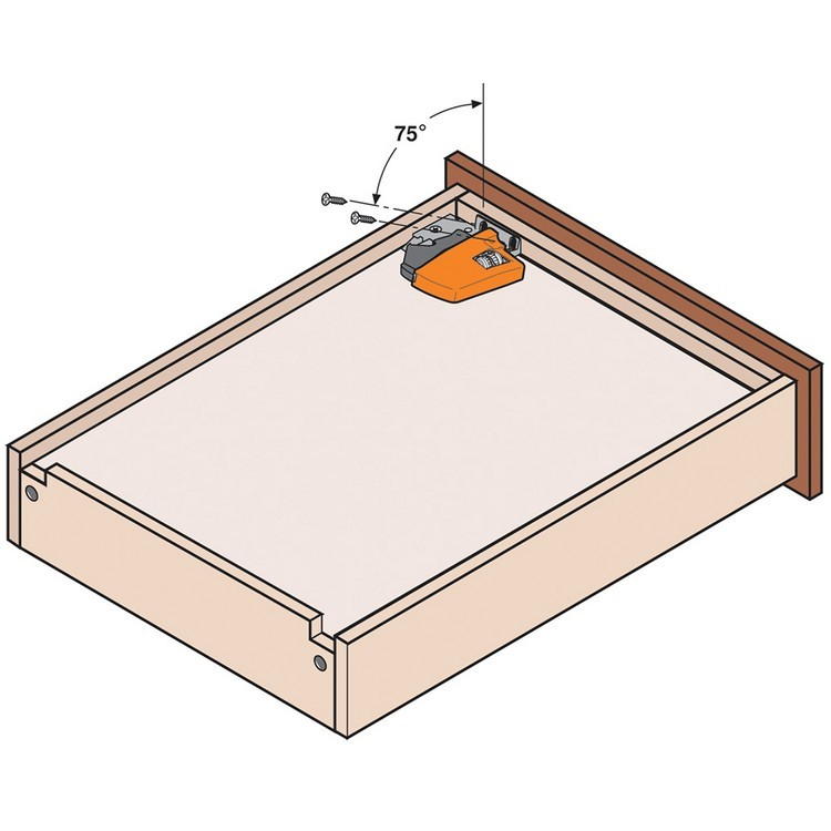 "Blum T51.1801 L Tandem 563/569 Standard Locking Device with Height Adjustment 1/8"", Left :: Image 80"