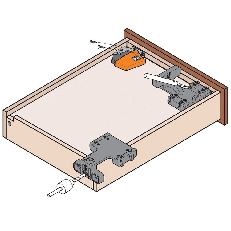 "Blum T51.1801 L Tandem 563/569 Standard Locking Device with Height Adjustment 1/8"", Left :: Image 30"