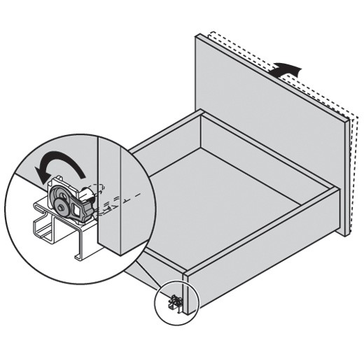 "Blum 552H3810N 15"" TANDEM 552H Undermount Partial Extension Drawer Slide for 5/8 Drawer :: Image 140"