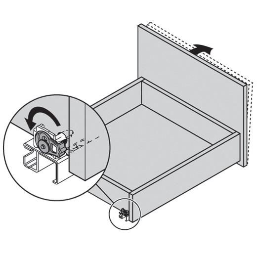 "Blum 562H5330C 21"" TANDEM 562H Undermount Full Extension Drawer Slide for 5/8 Drawer :: Image 270"
