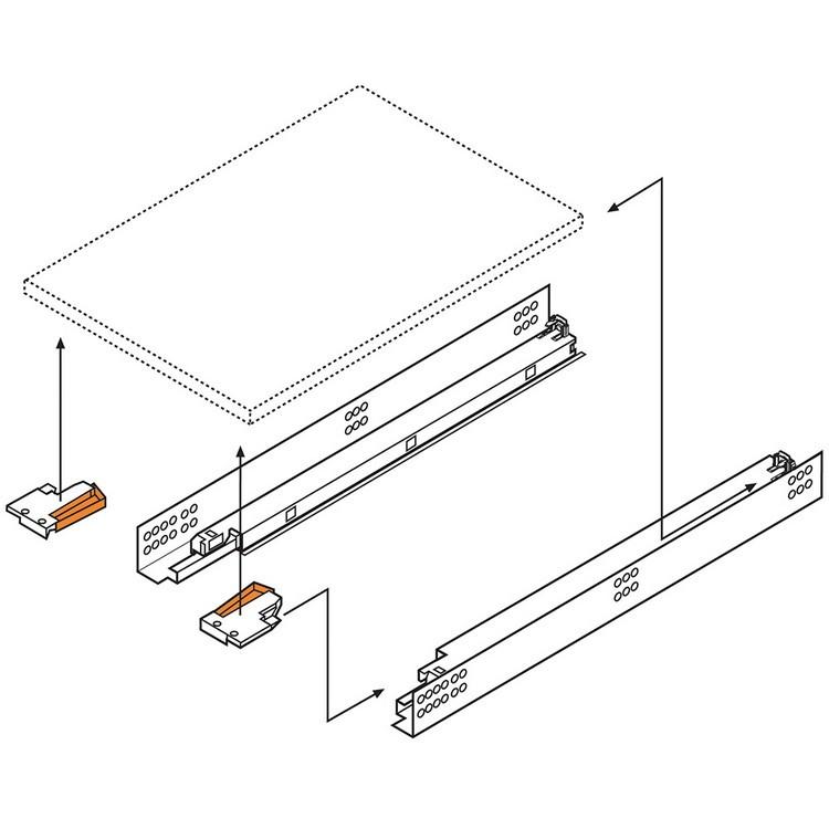 Blum T51.7000.01 Tandem Rear Mounting Block :: Image 50