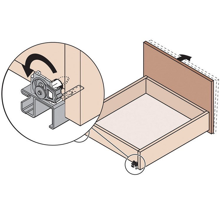 """Blum 569A6860B 27"""" TANDEM plus BLUMOTION 569A Undermount Drawer Slide, Heavy Duty, Full Extension, for 3/4 Drawer, 135lb :: Image 330"""