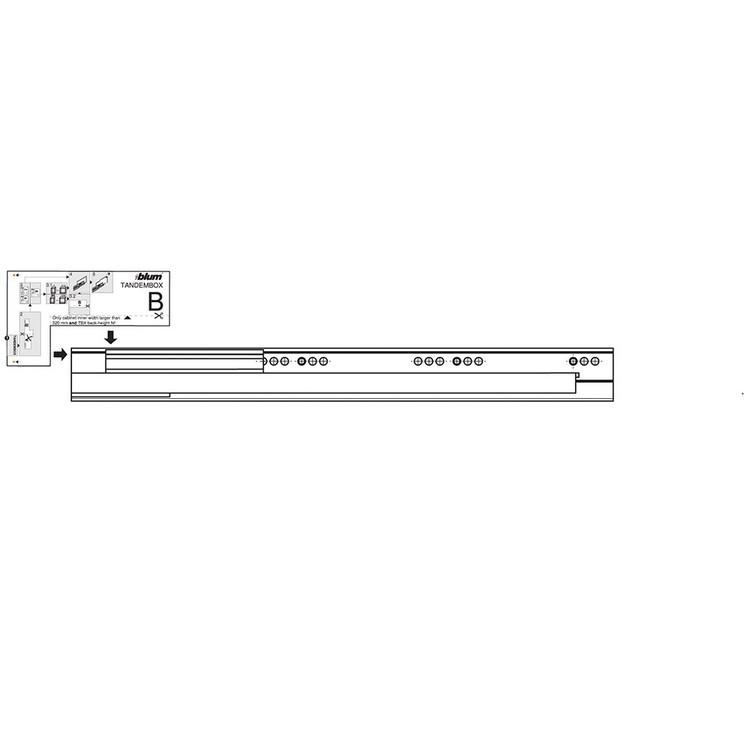 Blum Z10T1143B 45in SERVO-DRIVE Horizontal Aluminum Profile :: Image 240