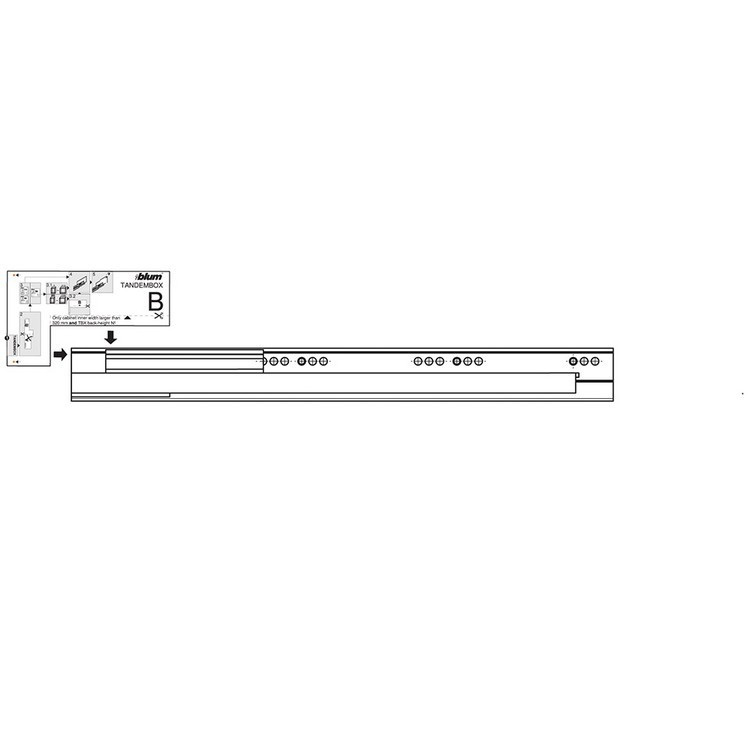 Blum Z10D5210.US SERVO-DRIVE Adapter Set for Horizontal Aluminum Profile Panels :: Image 80