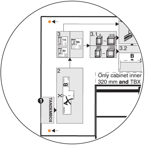 Blum Z10D5210.US SERVO-DRIVE Adapter Set for Horizontal Aluminum Profile Panels :: Image 40