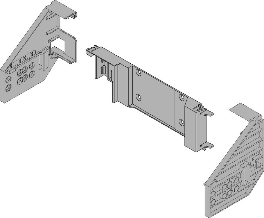 Blum Z10D5800.US SERVO-DRIVE Adapter Set for Horizontal Profile, Face Frame :: Image 10