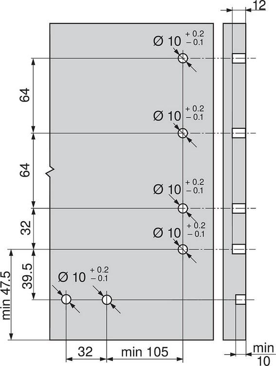 Blum Z96.10E1 Front Stabilizer, Dust Grey :: Image 20