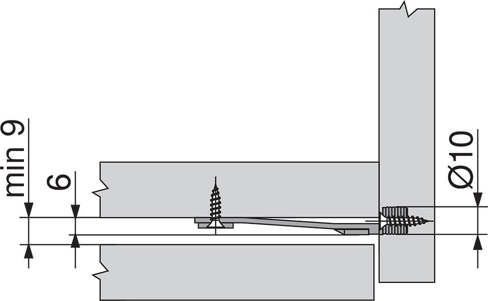 Blum Z96.10E1 Front Stabilizer, Dust Grey :: Image 10