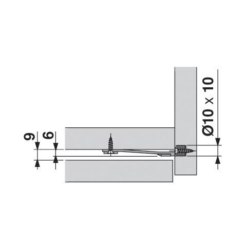 Blum Z96.10E1 Front Stabilizer, Dust Grey :: Image 60