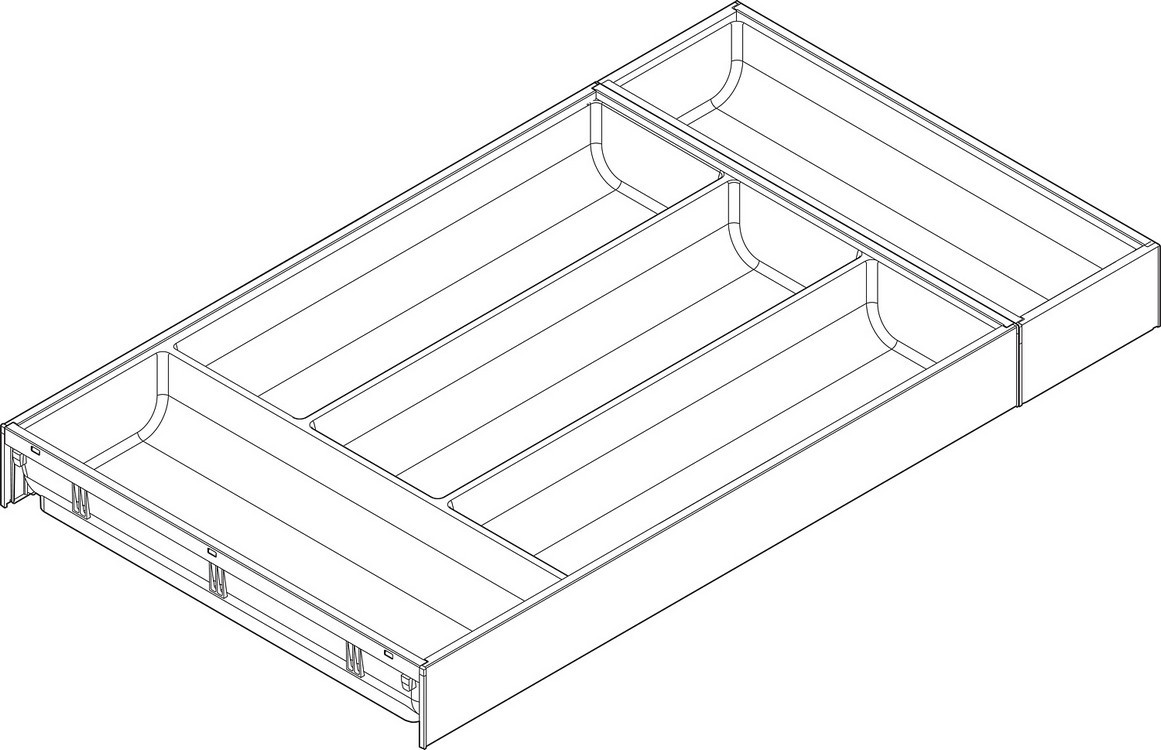 "Blum ZC7S550BS3 LEGRABOX Drawer Systems 22"" AMBIA-LINE Flatware Insert :: Image 10"