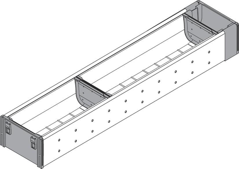 Blum ZHI.533BI1A 4-1/4 W Cutlery Drawer Insert Set - 1-Tier :: Image 10