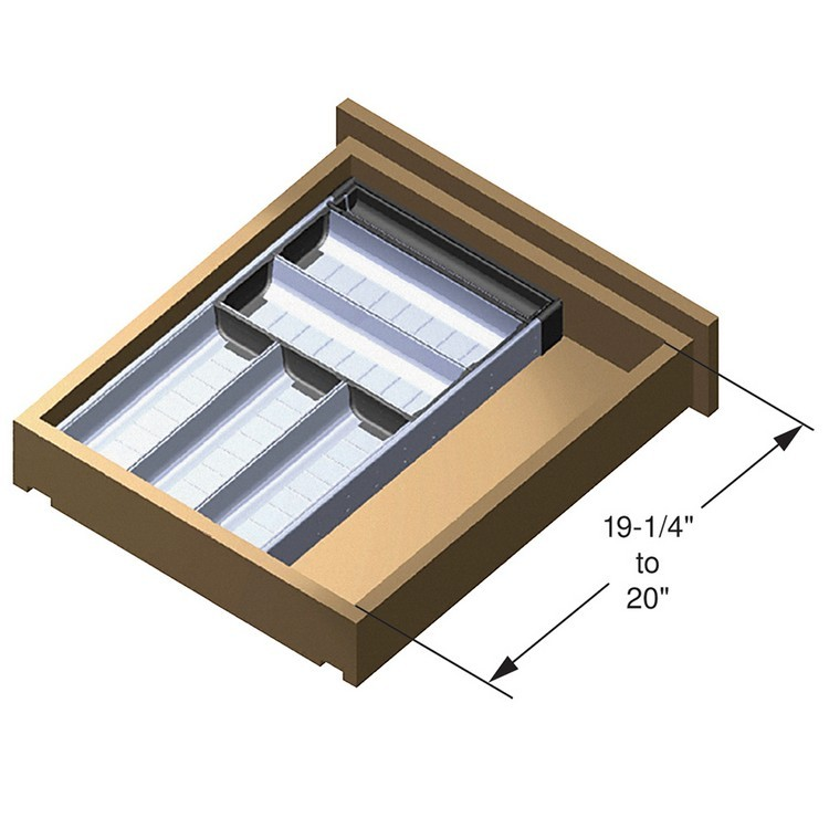 Blum ZHI.533BI3A 11-3/16 W Cutlery Drawer Insert Set - 3-Tier :: Image 30