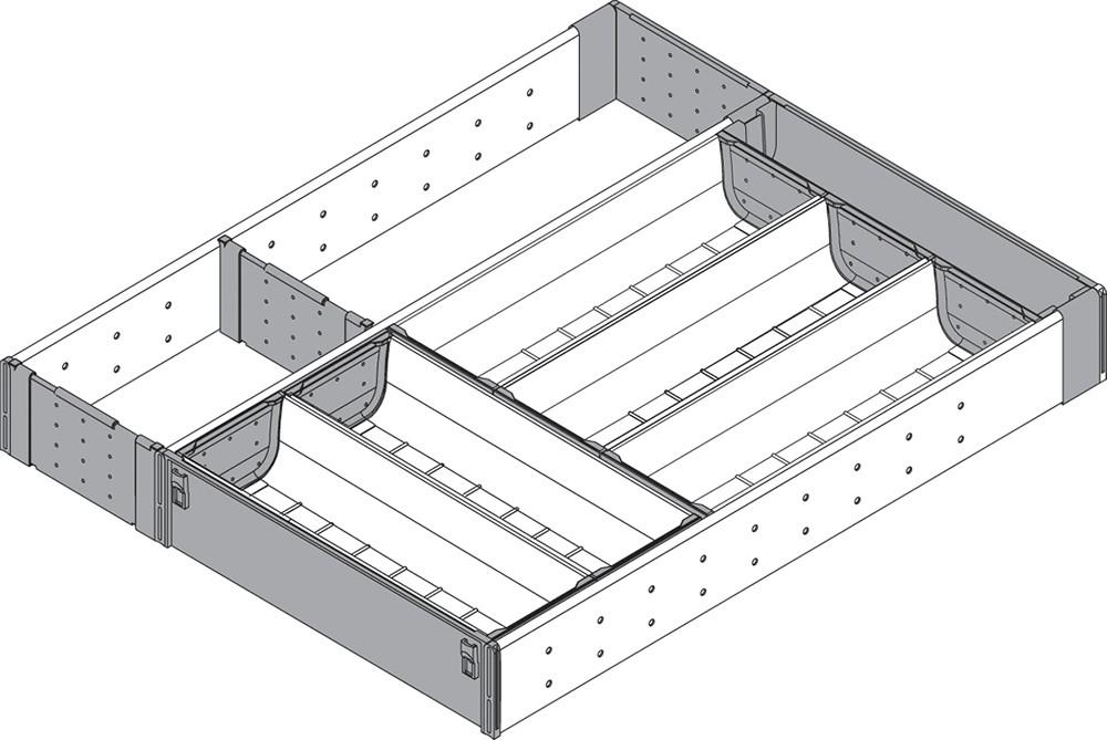 Blum ZHI.533KI4A 15 W Cutlery Drawer Insert Set - 4-Tier :: Image 40