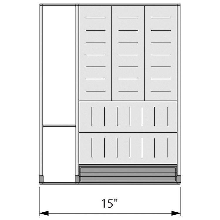 Blum ZHI.533KI4A 15 W Cutlery Drawer Insert Set - 4-Tier :: Image 60