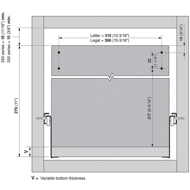 Blum ZRM.5500.US METAFILE Standard Kit, Zinc :: Image 60