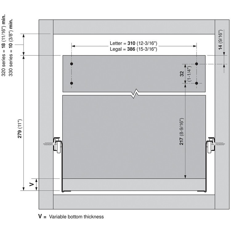 Blum ZRM.5500.US METAFILE Standard Kit, White :: Image 120