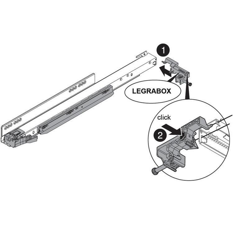 "Blum ZS7.650LU LEGRABOX 18""-24"" Lateral Stabilizer Set :: Image 30"
