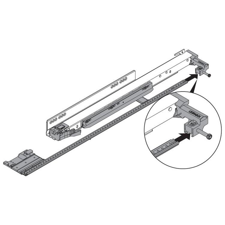 "Blum ZS7.650LU LEGRABOX 18""-24"" Lateral Stabilizer Set :: Image 40"