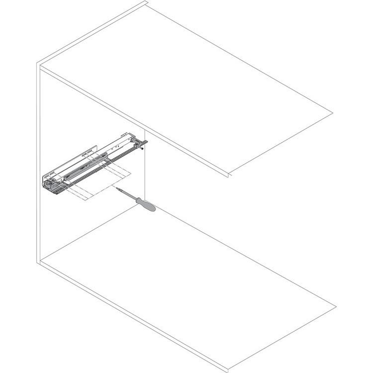 "Blum ZS7.650LU LEGRABOX 18""-24"" Lateral Stabilizer Set :: Image 80"