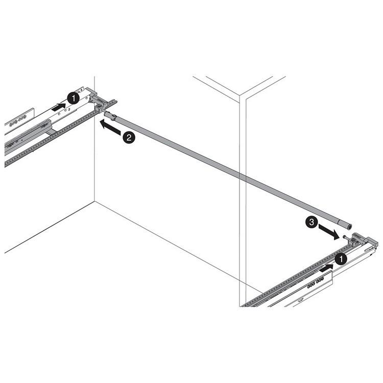 "Blum ZS7.650LU LEGRABOX 18""-24"" Lateral Stabilizer Set :: Image 110"