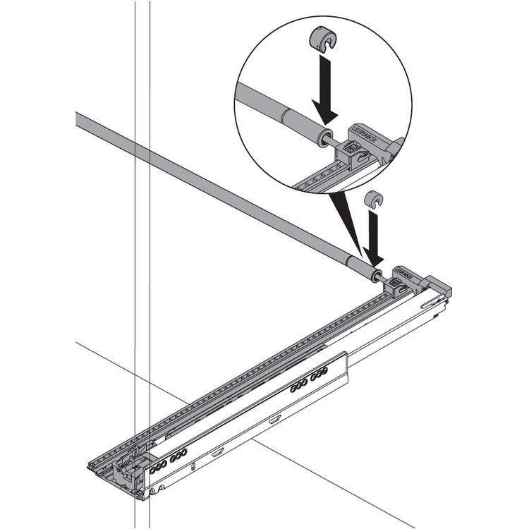 "Blum ZS7.650LU LEGRABOX 18""-24"" Lateral Stabilizer Set :: Image 120"