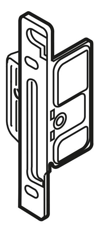Blum ZSF.1200 METABOX Left Hand Clip Front Fixing Bracket, Screw-on :: Image 10