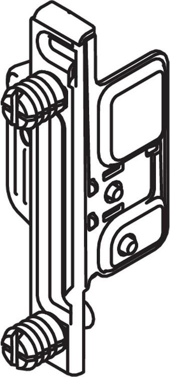 Blum ZSF.130E METABOX Left Hand Clip Front Fixing Bracket, EXPANDO :: Image 10