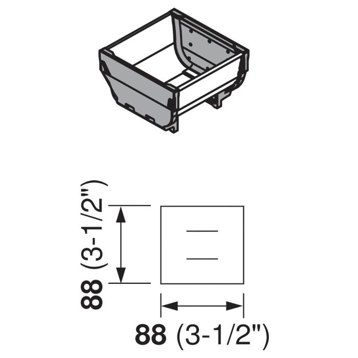 Blum ZSI.010SI 3-1/2 L Cutlery Tray - Short, Single Tray :: Image 10