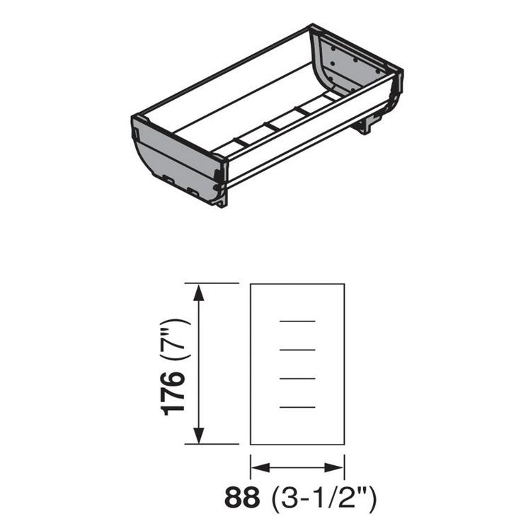 Blum ZSI.020SI 7 L Cutlery Tray - Medium, Single Tray :: Image 10